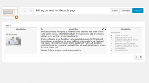 Example layout in the Layouts Editor (backend)