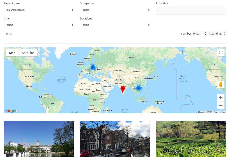 Travel destinations - archive