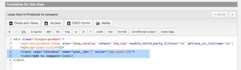 Adding input fields