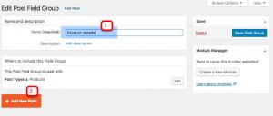 Adding product custom fields