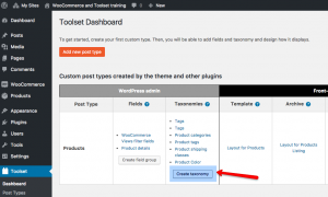 Creating a new custom taxonomy for products