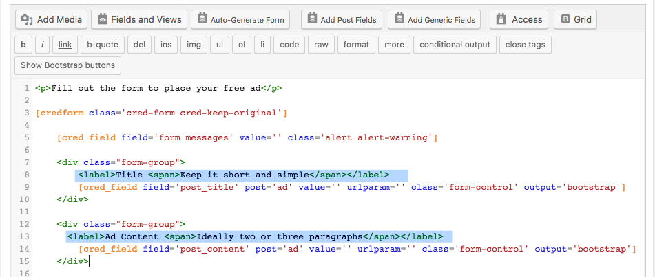Part 2 Customizing The Form Content Toolset