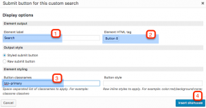 Setting up the search button