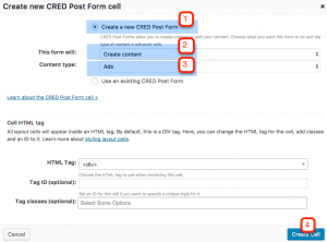 Creating a new Post Form