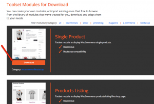 Downloading the Single Product module