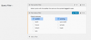 Selecting published and pending posts