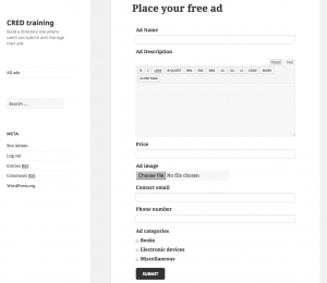Previewing the form