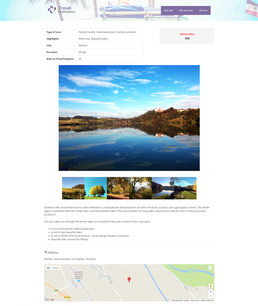 A custom traveling site built with Toolset and GeneratePress