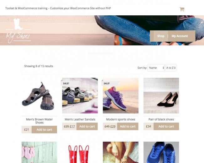 Toolset & WooCommerce training site