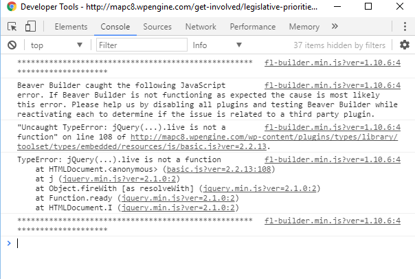 jQuery(   ) live is not a function