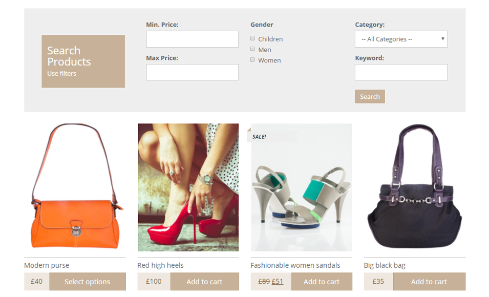 Custom Search for WooCommerce products - Toolset Views