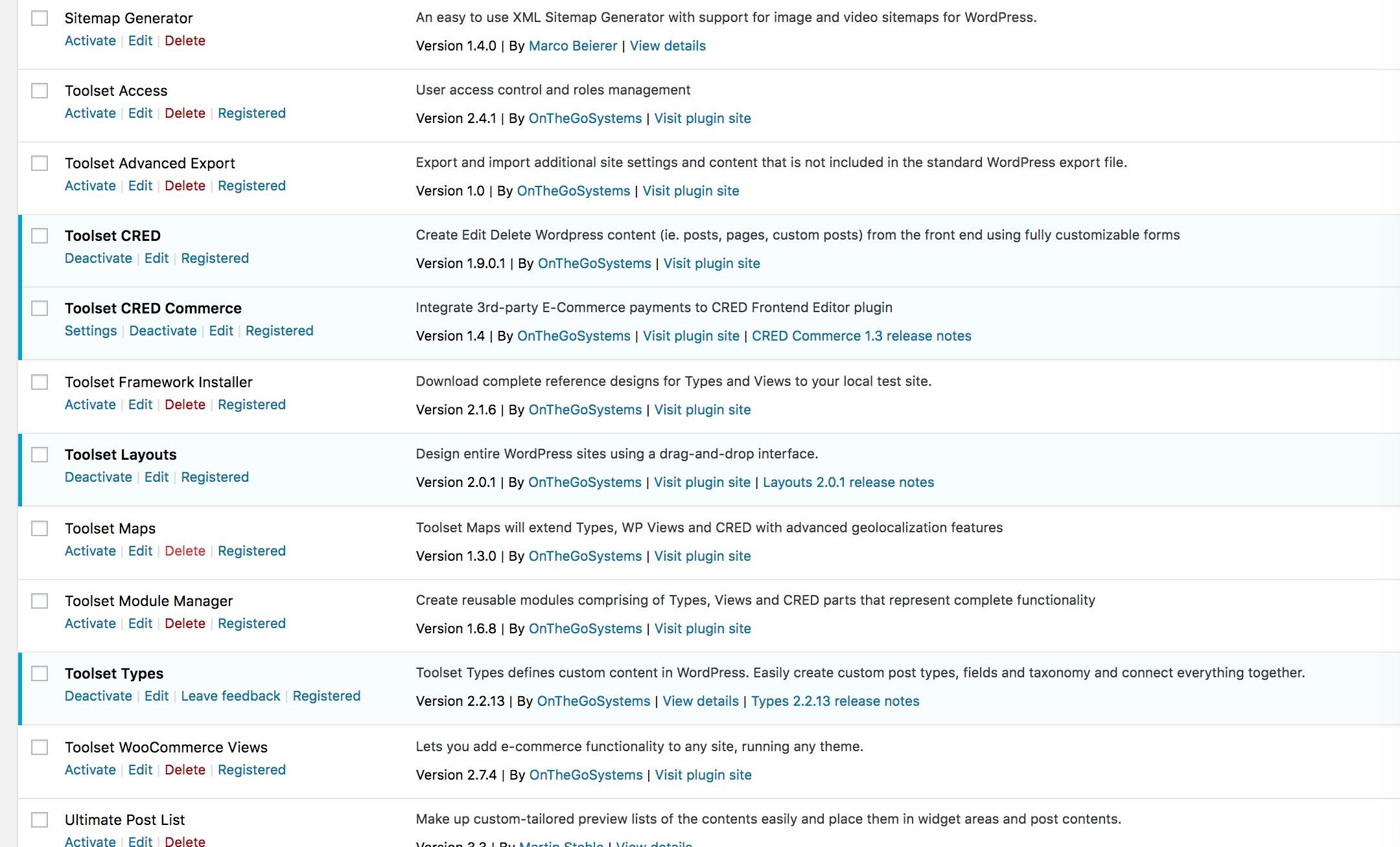 destination folder already exists toolset