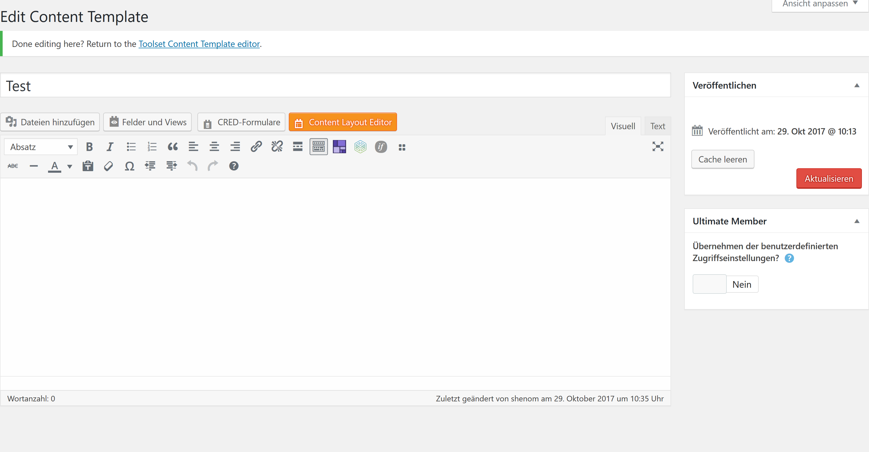 Avada Fusion Builder for Content Template - Toolset