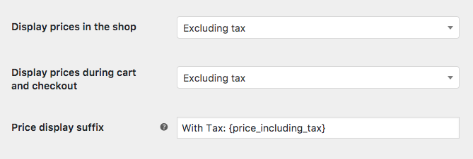 display price with and without taxes toolset