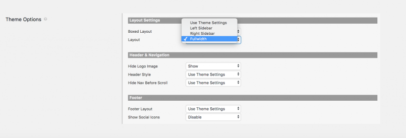 Customize theme options per Content Template you create with Toolset and Divi