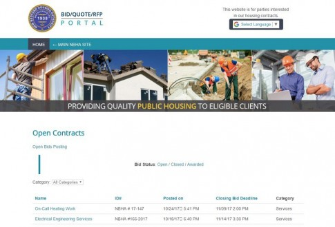 New Bedford Housing Authority Project Portal