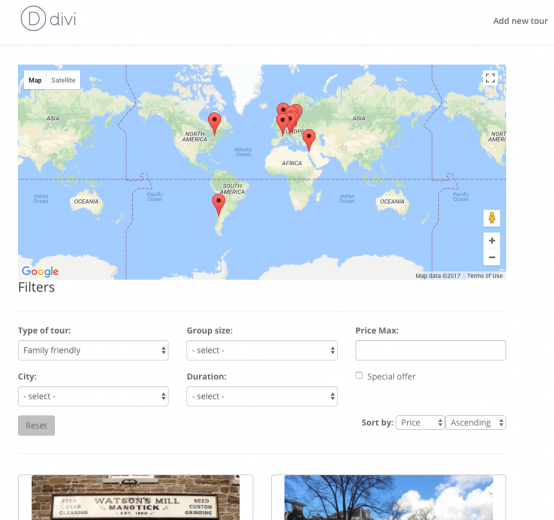 Displaying contents on a Google Map using Toolset