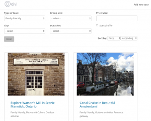Example of a custom search created using Toolset