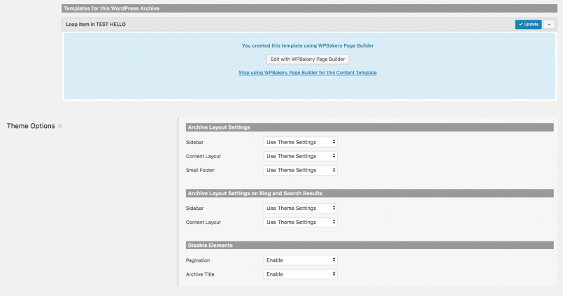 Custom post types Template Toolset and WPBakery