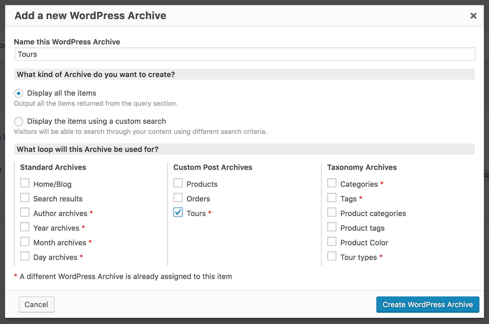 Creating Templates For Wordpress Archive Pages Using The Wpbakery