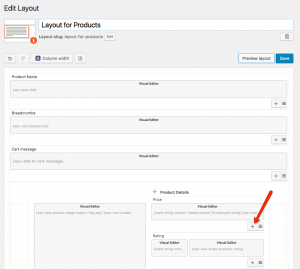 Adding a new row for a product field
