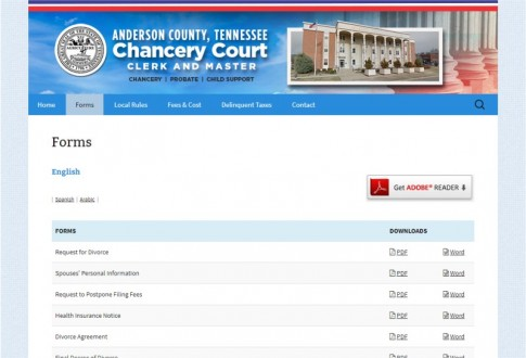 Anderson County Clerk and Master
