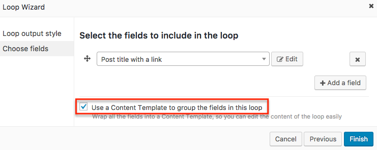 Make sure that you have the Use a Content Template to group the fields in this loop field checked
