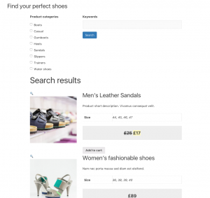 Product search after styling