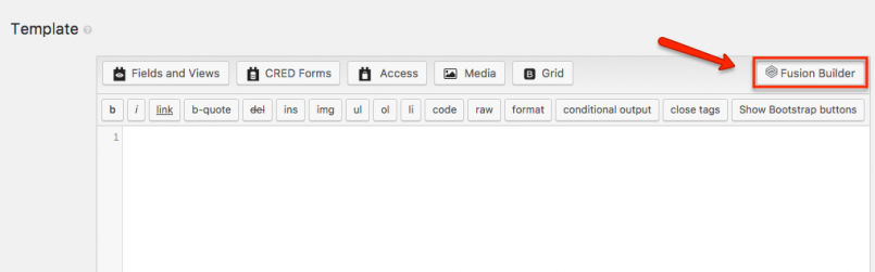 Switching to your page builder to build the content of your Content Template