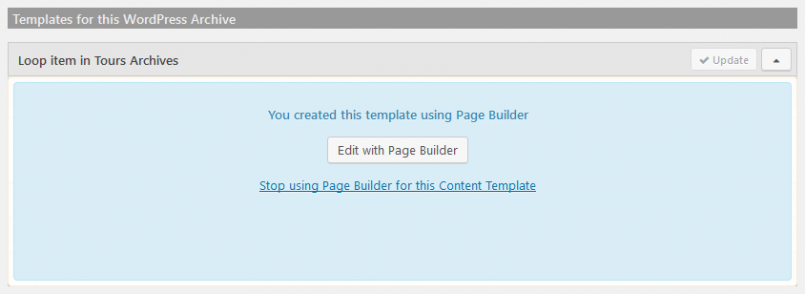 Click to start editing the template with Beaver Builder