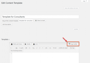Enabling Beaver Builder for the content template
