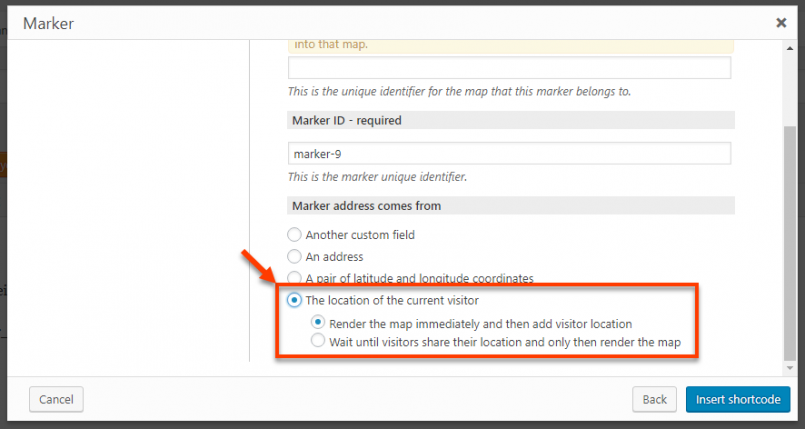 Toolset Maps 1 4 with geolocation, filtering by distance and custom