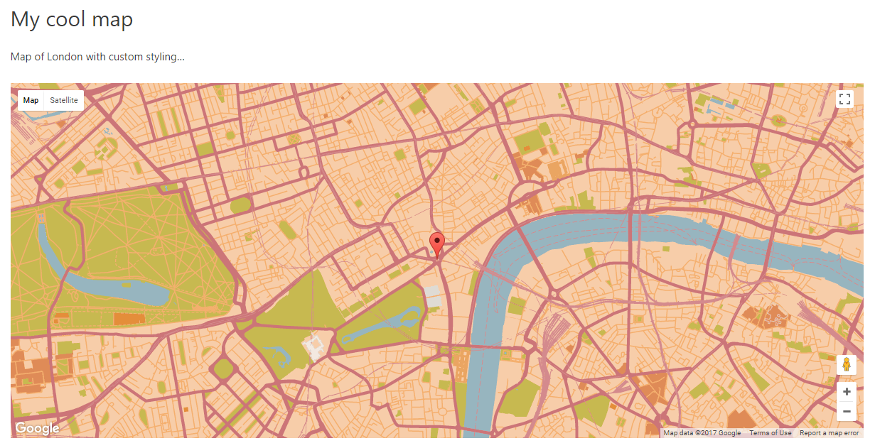 Using custom styles for maps - Toolset