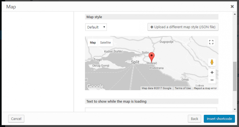 Using custom styles for maps toolset the dropdown menu to select a style from the ones already present in your site to upload a new style file click the upload a different map style json gumiabroncs Gallery
