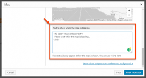 Toolset Maps - Select text to display while Google Map is loading