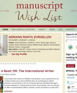 Website for writers, agents and editors