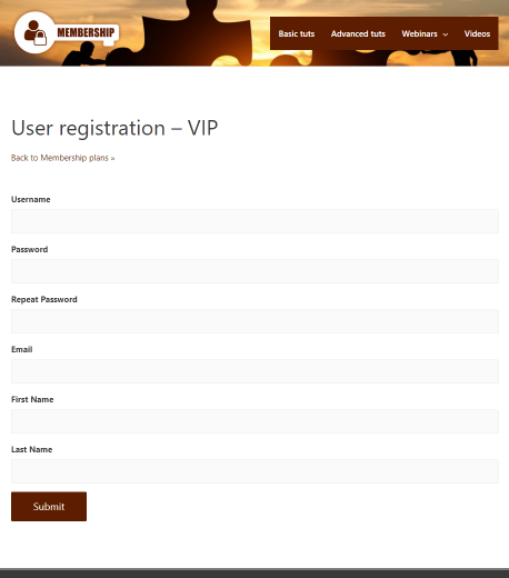 User registration form for WooCommerce checkout