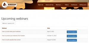 What VIP members will see - all webinars