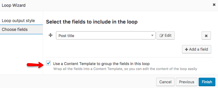 Check the Use a Content Template (...) option