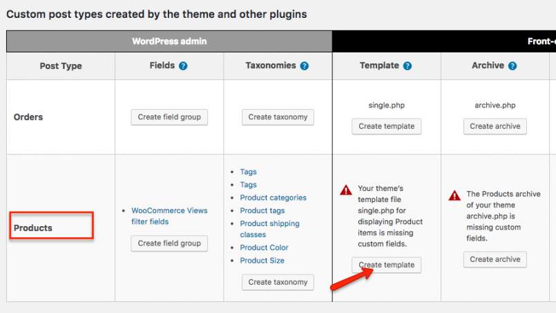 How to create a new template for product pages