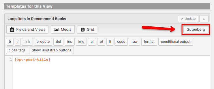 Click the Edit with Gutenberg Editor button again.