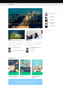 Page created with Gutenberg and View blocks (back-end)