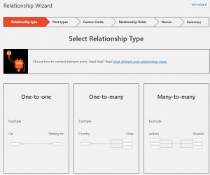 Toolset Wizard for Creating Post Relationships
