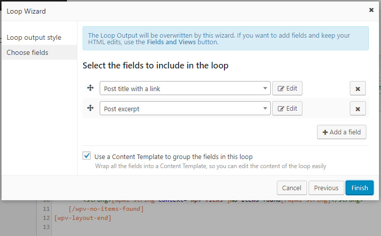 Designing How A View Outputs The Posts