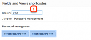 Forgot password form and Reset password form shortcodes