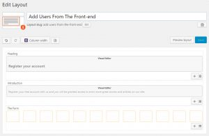 Layout before inserting our User Form