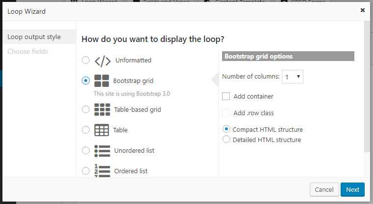 Loop Wizard allows you to easily design how posts are listed