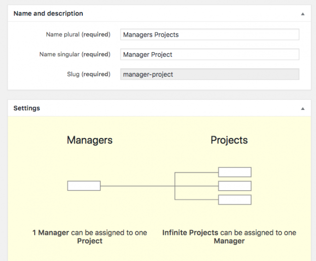 Managers and projects - one-to-many relationship