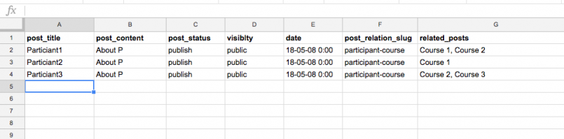 many-to-many relationships - CSV file