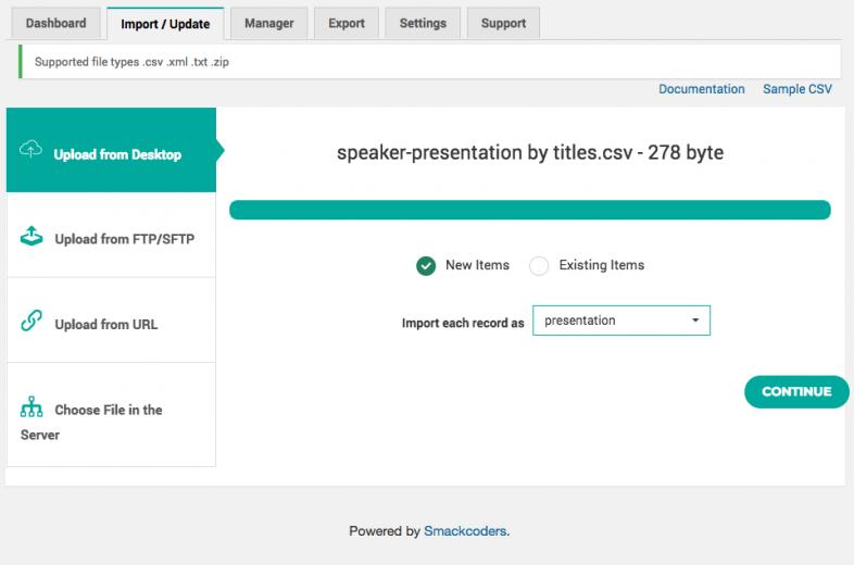 Importing Presentation posts